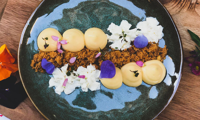 Restaurant Mélodie, tarte citron meringué destructurée - bordeaux